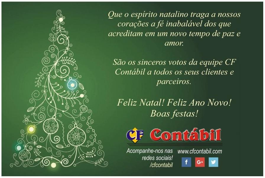 Feliz Natal! Boas Festas!